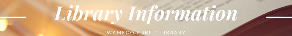 Library Information website banner